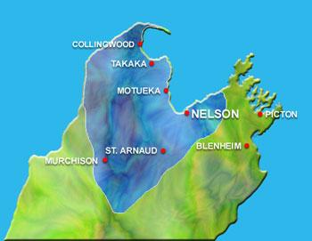 Nelson region map