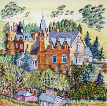 Painting of Warwick House 1854